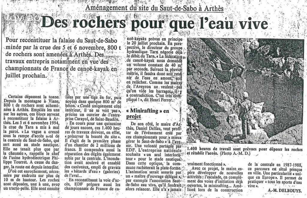aménagement du site du Saut-de-Sabo