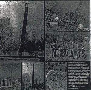 démolition de la cheminée de l'ancienne usine Plo