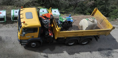 Camion Man 6x4 équipé de grue radiocommandée de 15 m