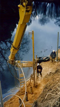 Colonne de forage avec bras déporté aval (forage 250 mm)