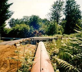 Construction d'un ouvrage pour exploitation forestière sur conduite forcée