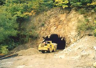 Fermeture de galerie minière