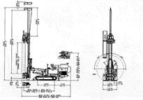 Foreuse hydraulique sur chenilles