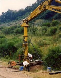 Forage à l'odex de drains subhorizontaux
