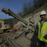 foreuse hydraulique - chantier RD 31