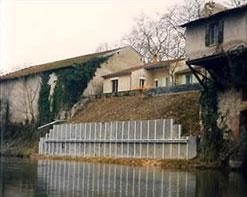 Paroi berlinoise tirantée architecturale