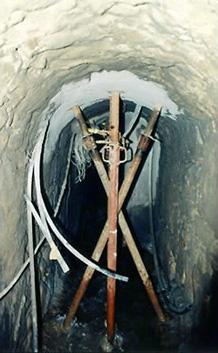 injection d'un fontis dans une vieille galerie d'assainissement