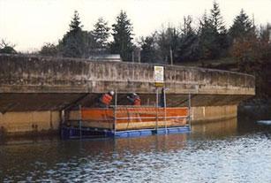 Réfection du parement d'un barrage