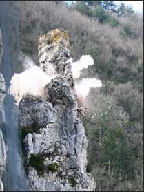 technique de minage de massif rocheux