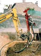 Unité hydraulique montée sur bras de pelle