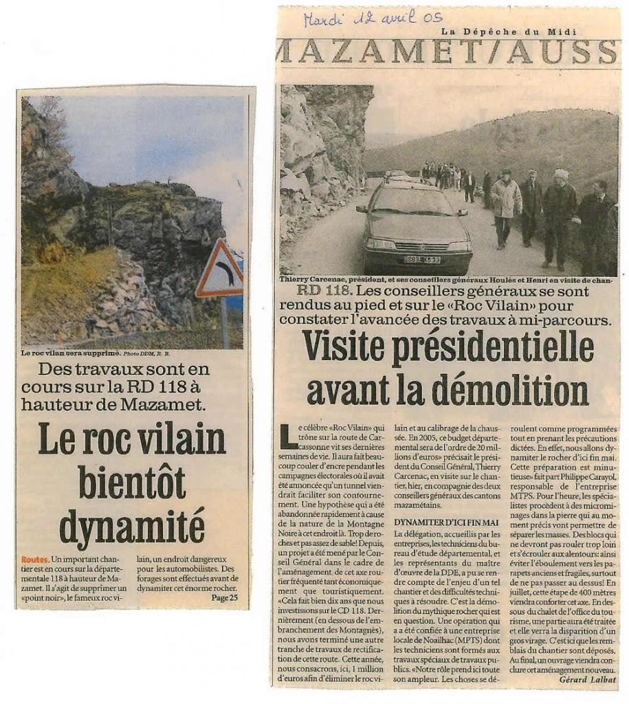 visite présidentielle au roc vilain avant travaux