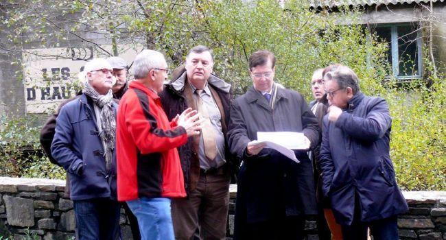 Philippe CARAYOL a présenté à Thierry Carcenac les travaux réalisés.