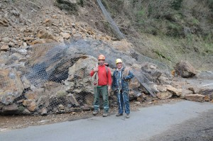 Eboulement de la falaise sur la RD 55, M. Philippe CARAYOL (et M. Gilles ARNAUD de la société M.T.P.S.