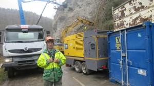 Un gros chantier sous la direction de Gilles ARNAUD, conducteur de travaux de l'entreprise M.T.P.S.