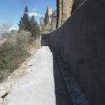 Cité de Carcassonne - Paroi clouée sur le talus aval des remparts